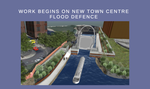 Work Begins on New Town Centre Flood Defence